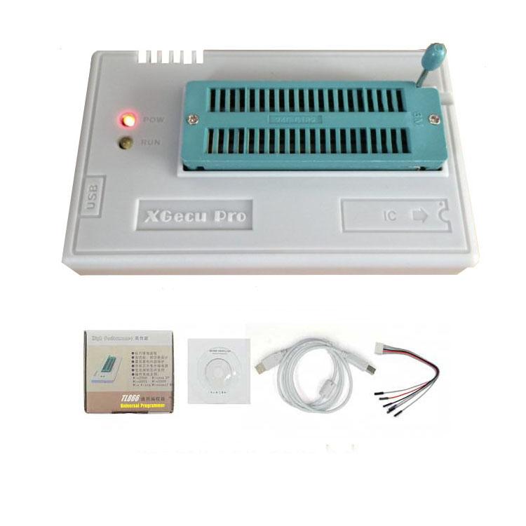 XGecu TL866II Plus USB (Universal) Programmer for 15000+IC SPI Flash NAND  EEPROM MCU PIC AVR+10 Adapter+IC Puller+ Component Storage box